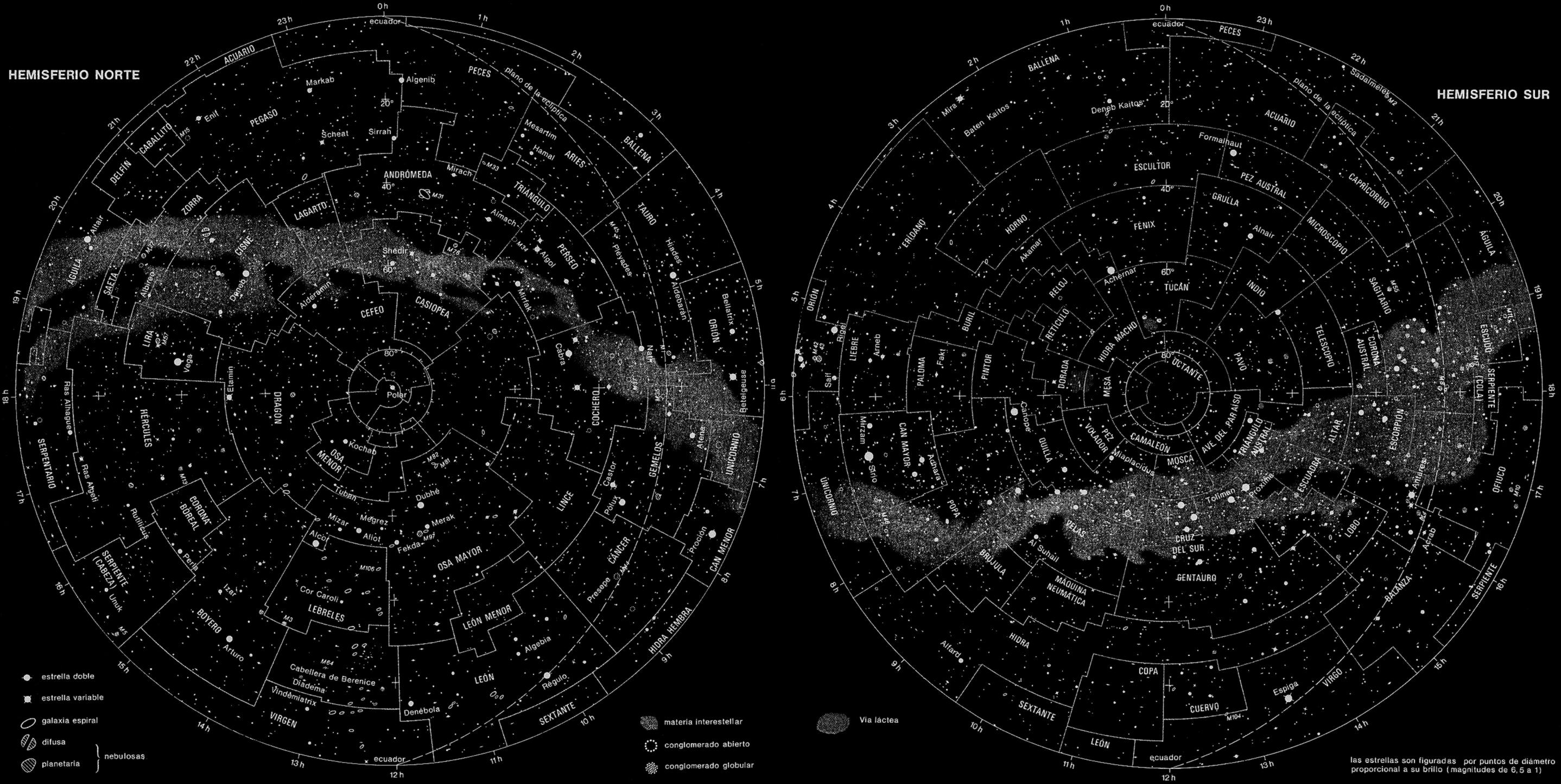 Mapa constelaciones