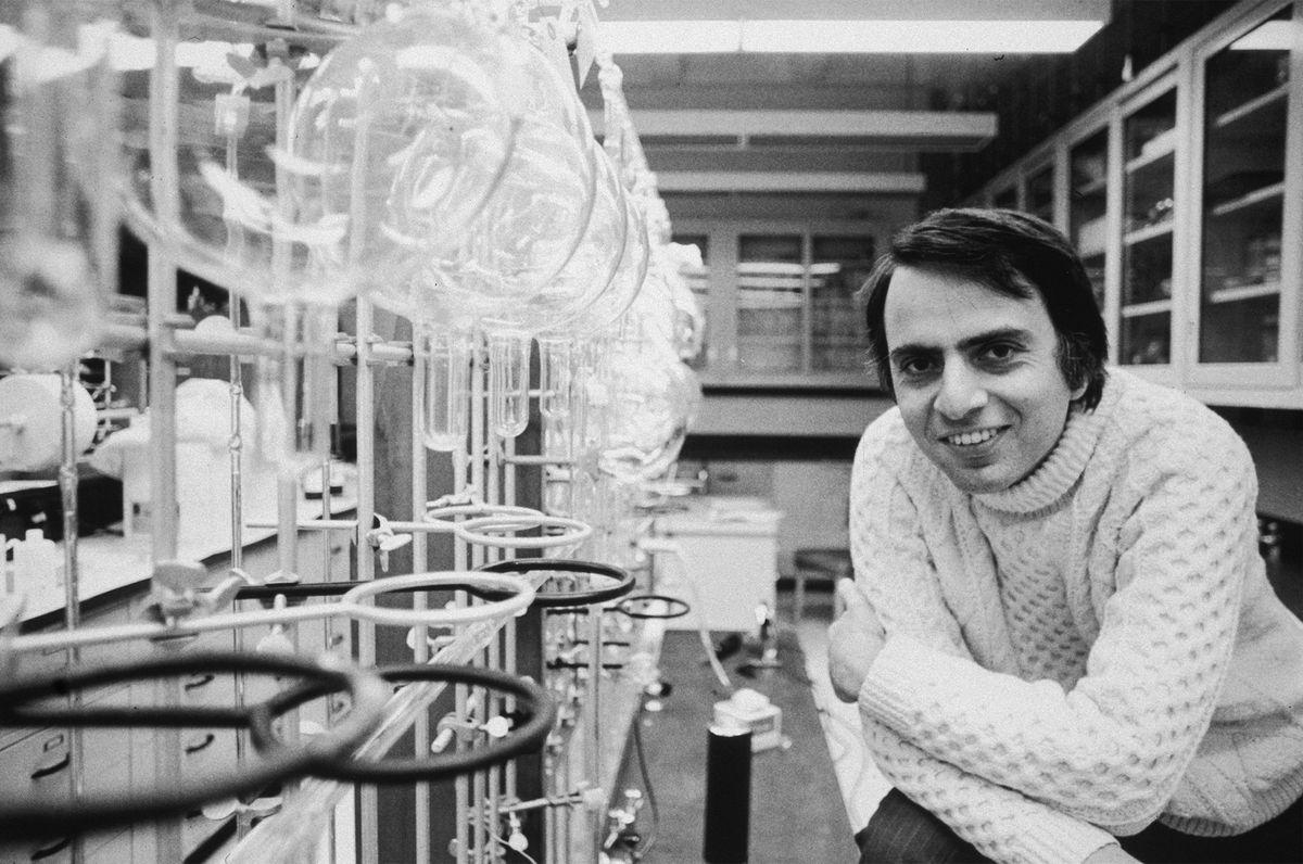 Carl Sagan joven