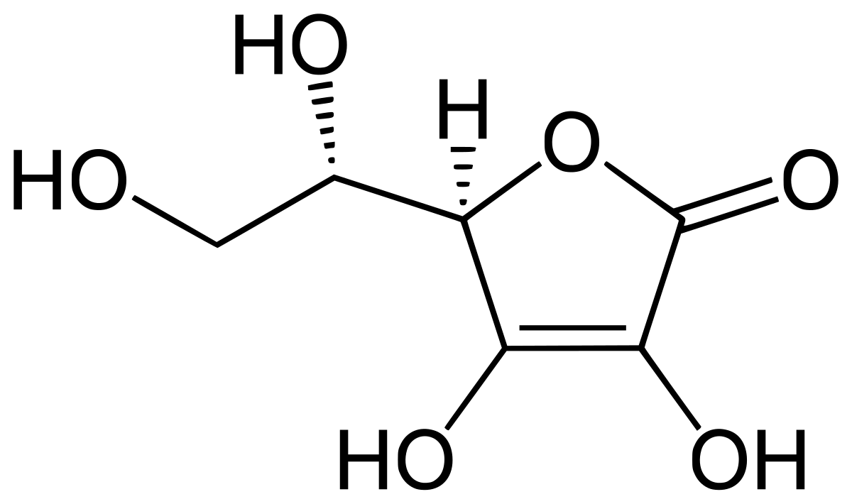Estructura vitamina c