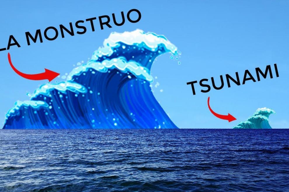 Diferencias ola monstruo tsunami