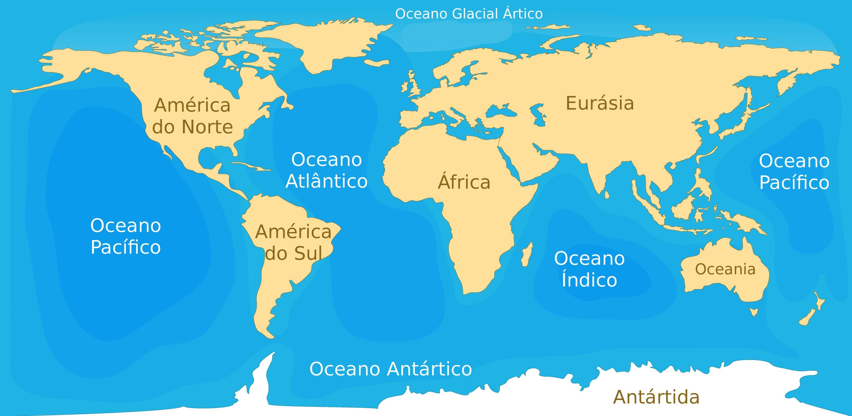 Océanos mapa