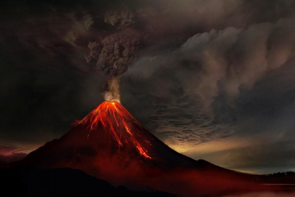 Partes volcán